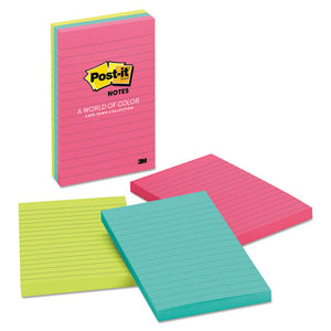 Original Pads in Cape Town Colors, Lined, 4 x 6, 100-Sheet, 3/Pack