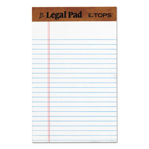 "The Legal Pad"" Ruled Perforated Pads, 5 x 8, White, 50 Sheets, Dozen"