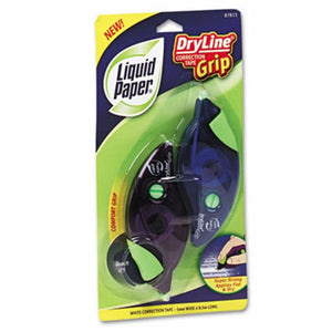 Paper Mate Liquid Paper Grip Correction Tape Dispensers, 2 per Pack (PAP87813)