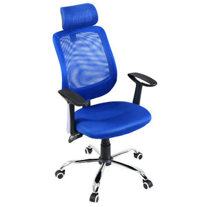 GIANTEX Blue Modern Ergonomic Mesh Adjustable Office Chair Executive Chair Boss Lift Chair Swivel Chair Office Furniture HW51441
