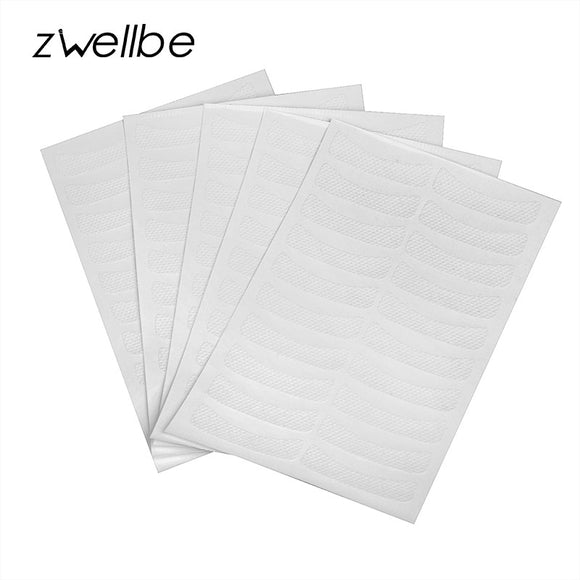 zwellbe 50pairs/pack Medical Non-woven Fabrics Patches Eyelash Under Eye Pads Lash Eyelash Extension Fabric Patches Eye Tips