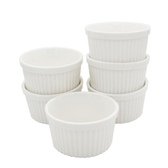 4oz/120ml Ceramic Ramekins Porcelain Souffle Cup Pack of 6