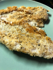 Low-carb crispy whitefish or pickerel fillet