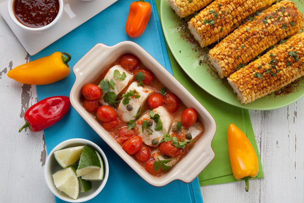 Baked Mexican Halibut