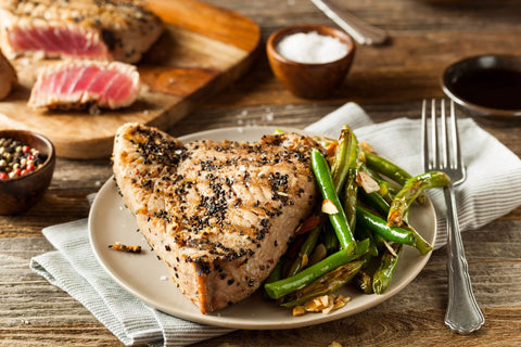 Garlic Marinated Grilled Tuna Steaks