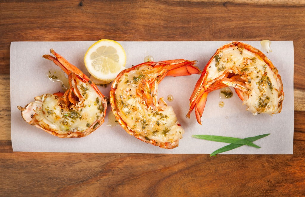 Lobster Tails with Cilantro Chipolte Cream