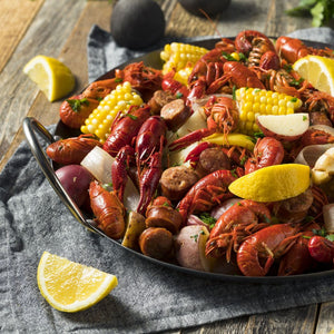 Crawfish, Wild, Seasoned, Cooked, Frozen
