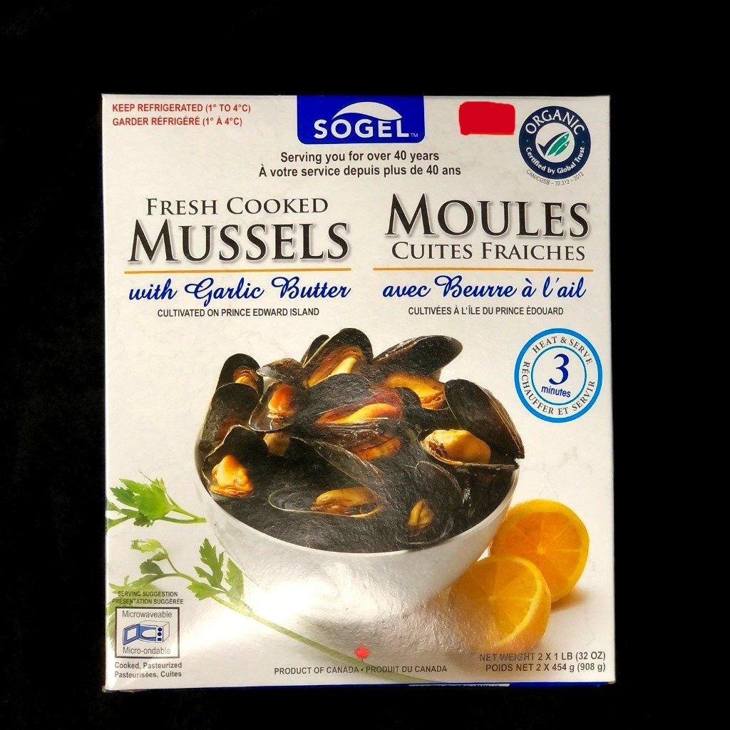 Cooked Mussels with Garlic Butter