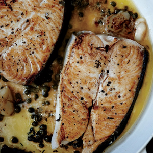 halibut steaks, frozen