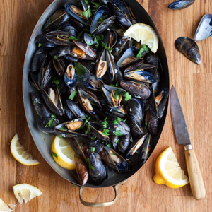 Black Mussels, Cooked, Frozen