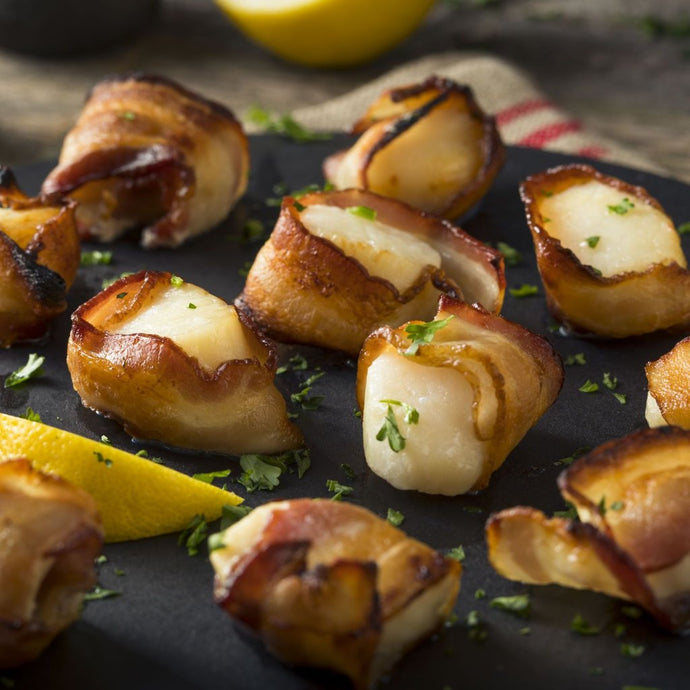 bacon scallops 375 grams frozen