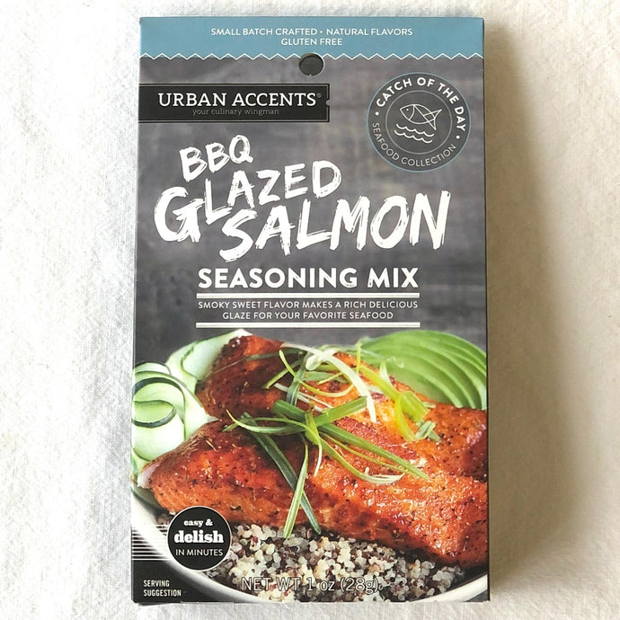 bbq glazed salmon seasoning mix smoky sweet flavour gluten free 28 grams
