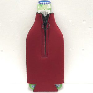 say no to pot zipper back of bottle sleeve
