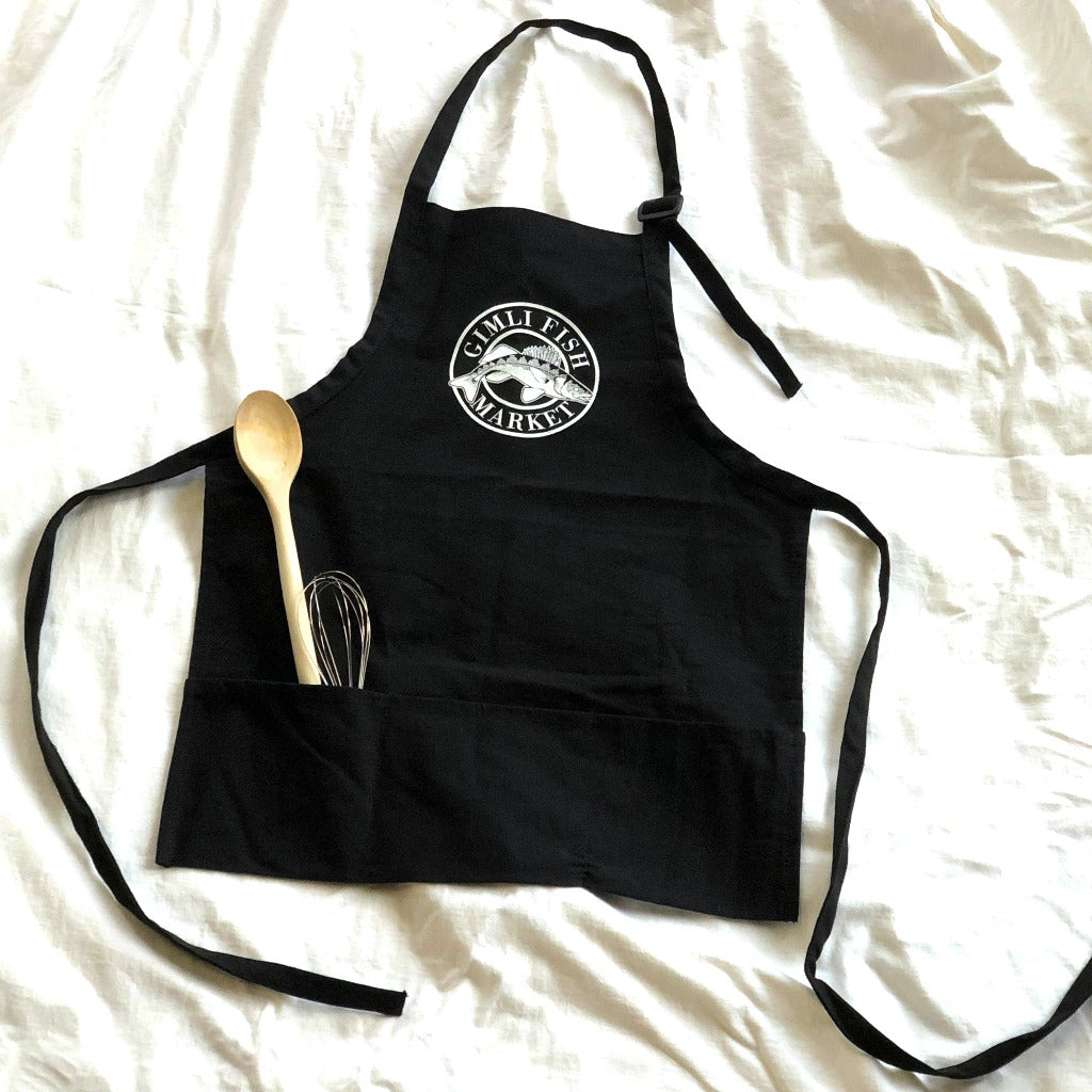 apron cotton bib three pockets adjustable neck strap