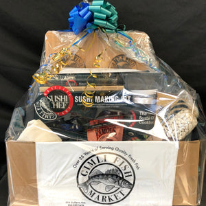 custom gimli fish gift basket
