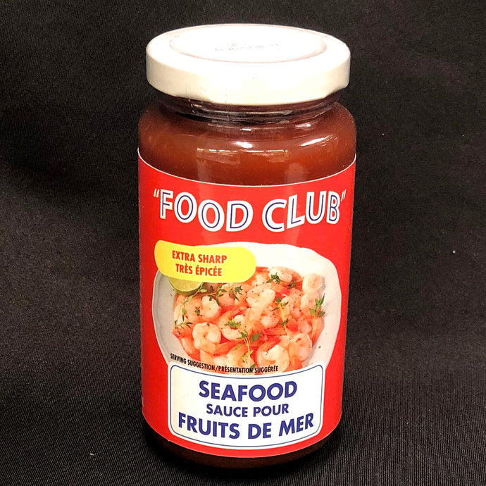 extra sharp cocktail sauce food club 250 ml  jar