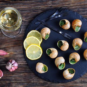 jumbo garlic escargots