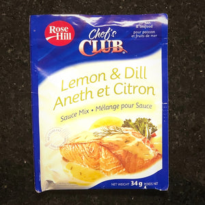 lemon and dill chefs club sauce mix 34 grams