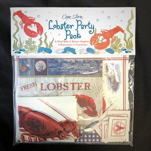 lobster party pack table setting for 6 by Cape Shore