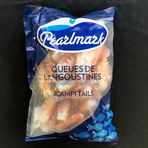 butterflied scampi tails by pearlmark frozen 454 grams