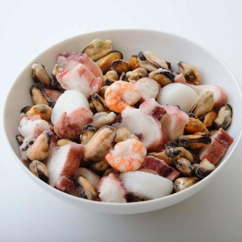 seafood mix mussels shrimp octopus squid 454 grams