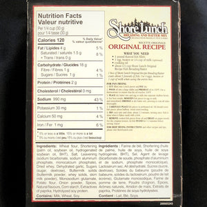 nutrition information for shore lunch breading and batter mix original recipe 255 grams