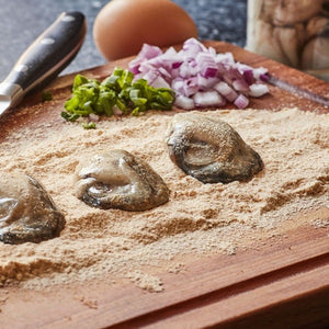 Goose point pacific shucked oysters 8 oz tray 227 grams fresh