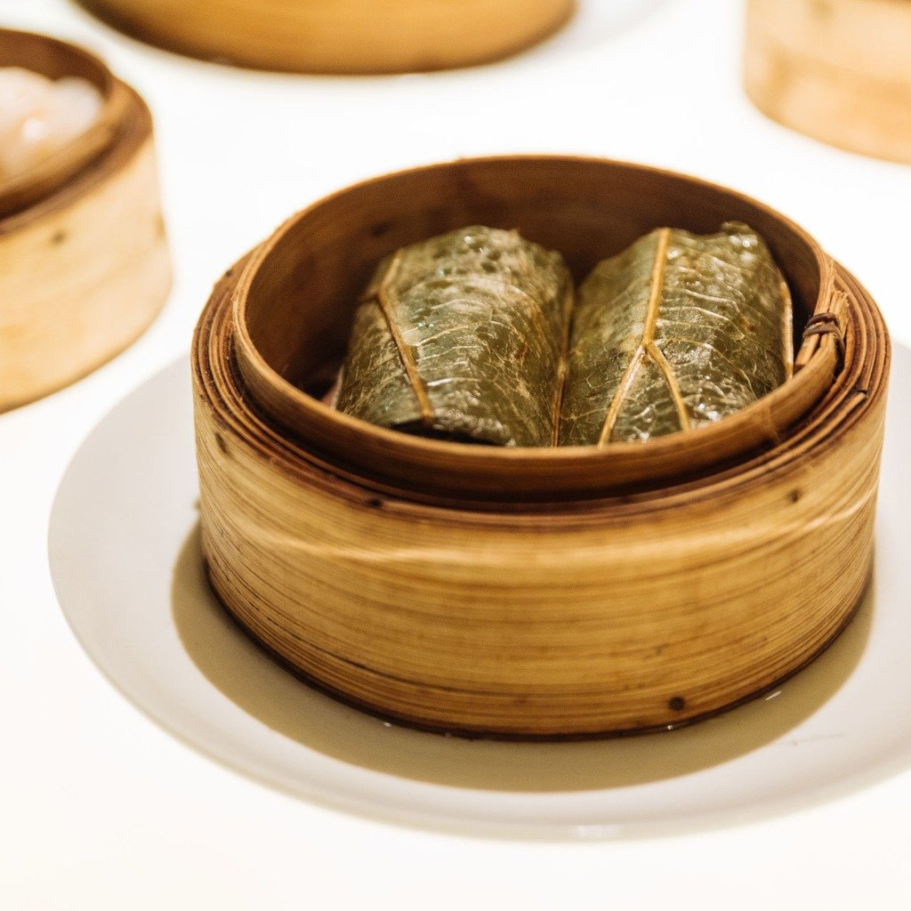 dim sum sticky rice with pork wrap 3 pieces