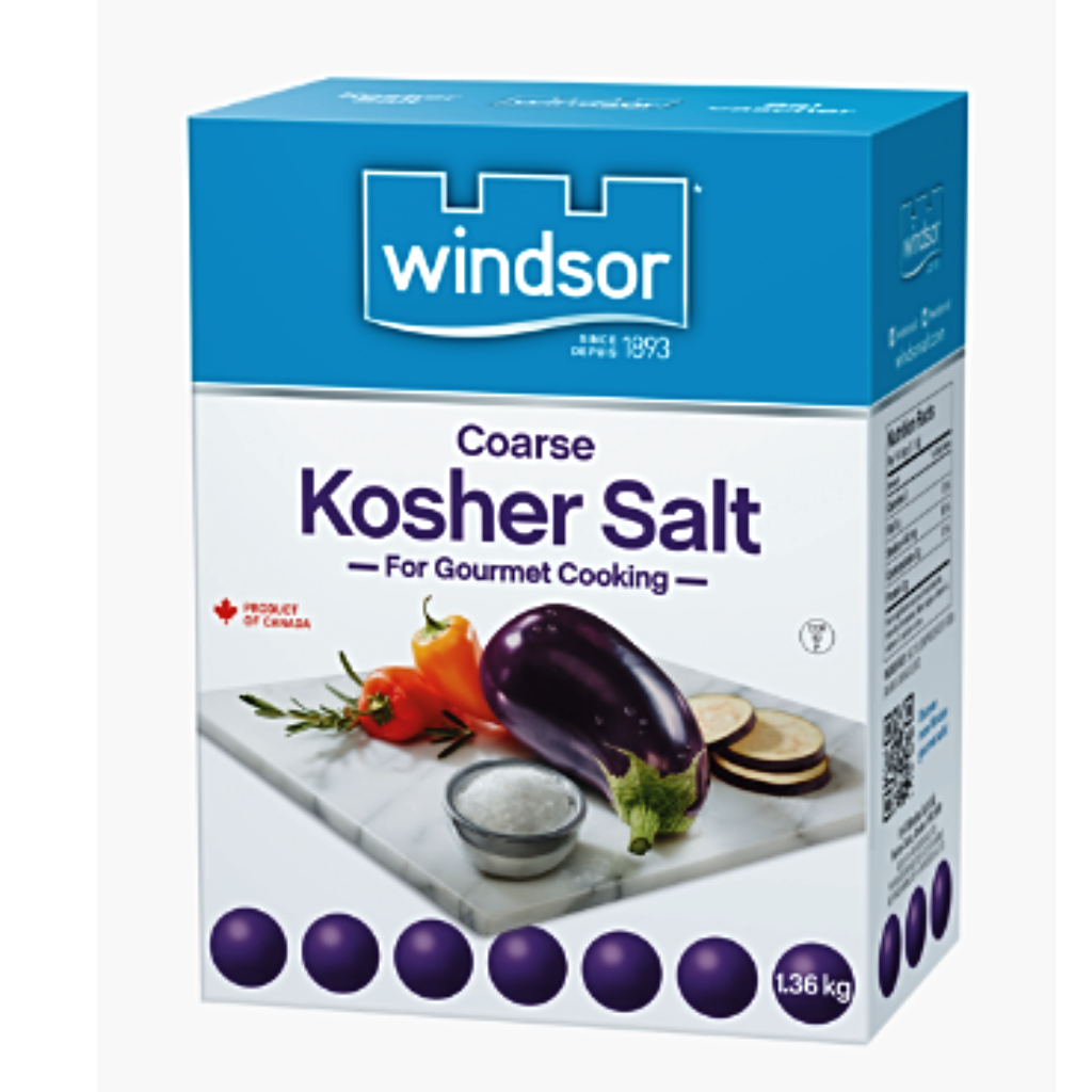 windsor coarse salt for gourmet cooking 1.36 kilograms