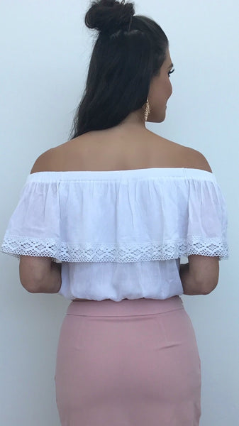 Matilda Linen Crop Top
