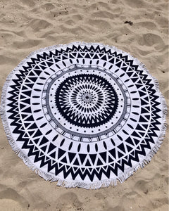 Round Beach Towel - Tribal print