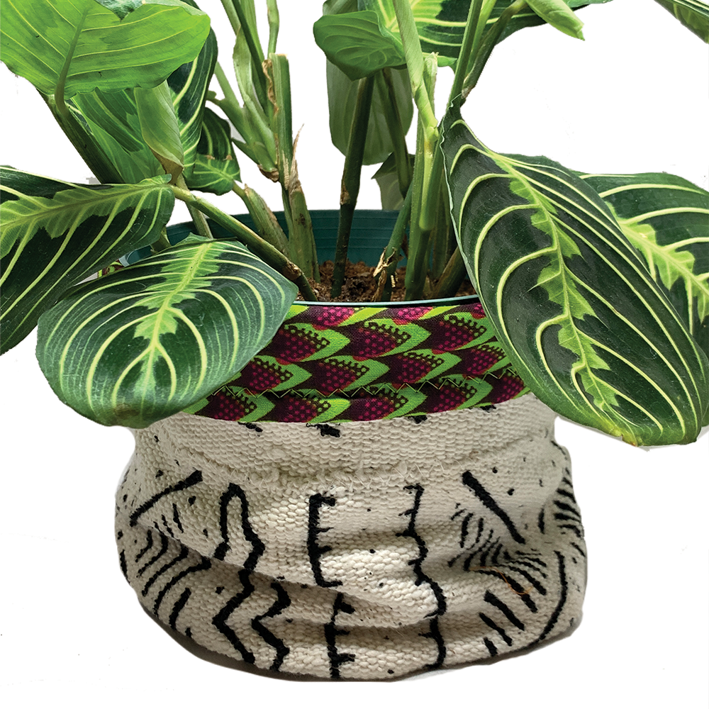 Custom 'Zuri' Fabric Planters