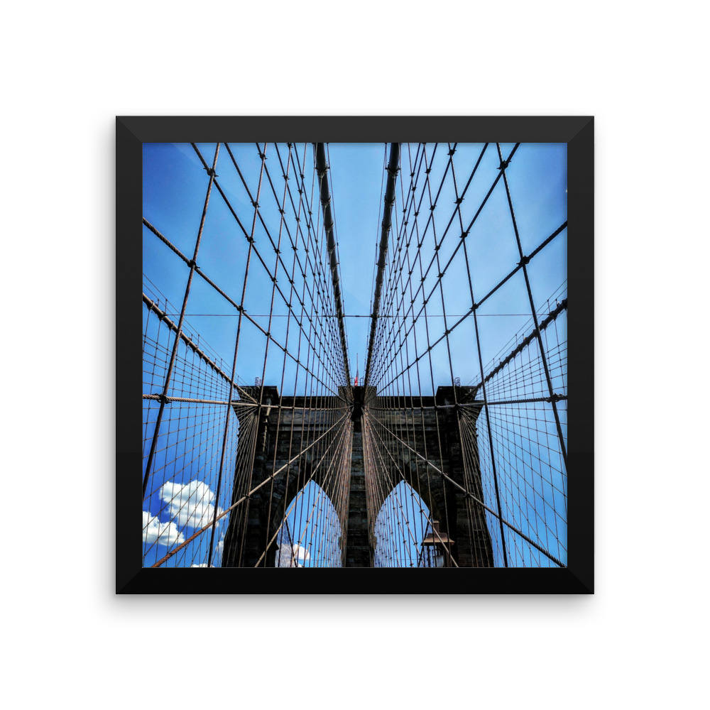 Brooklyn Bridge, NYC Original Photographic Print by n.corren conway - FRAMED