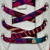 Amahle Wax Print Laces - Burgundy/Pink/Teal/Purple