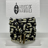Amahle Wax Print Laces - Black/Olive/Cream