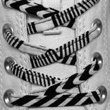 Amahle Wax Print Laces - Black/White