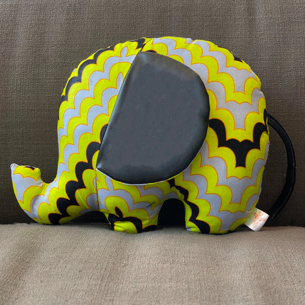 Ngozi Elephant Pillow - Green/Black/Grey