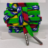 Amahle Wax Print Laces - Green/Yellow/Red/Blue