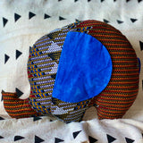 Ngozi Elephant Pillow  - Blue/Red/Black/Yellow/White