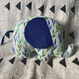 Ngozi Elephant Pillow - Blue/Green/White