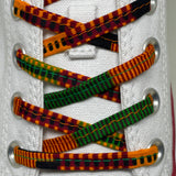 Amahle Wax Print Laces - Black/Orange/Green/Burgundy Kenté