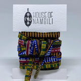 Amahle Wax Print Laces - Brown/Green/White/Blue/Red