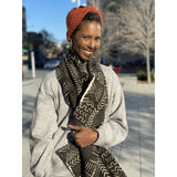 Nambili 'Isabis' Mud Cloth Scarf - White on Black