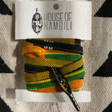 Amahle Wax Print Laces - Green/Yellow/Black