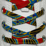 Amahle Wax Print Laces - Red/Teal/Gold