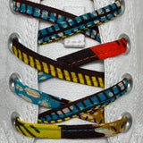 Amahle Wax Print Laces - Orange/Yellow/Teal/Brown