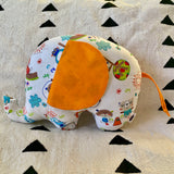 Ngozi Elephant Pillow - Orange/White