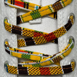 Amahle Wax Print Laces - Yellow/Brown/Orange/Blue