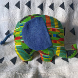Ngozi Elephant Pillow - Green/Red/Black Kenté