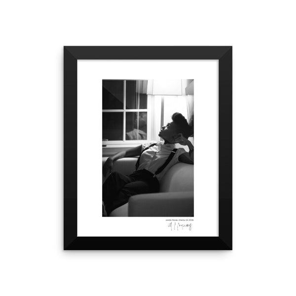 Framed Janelle Monáe Original Photographic Print by n.corren conway